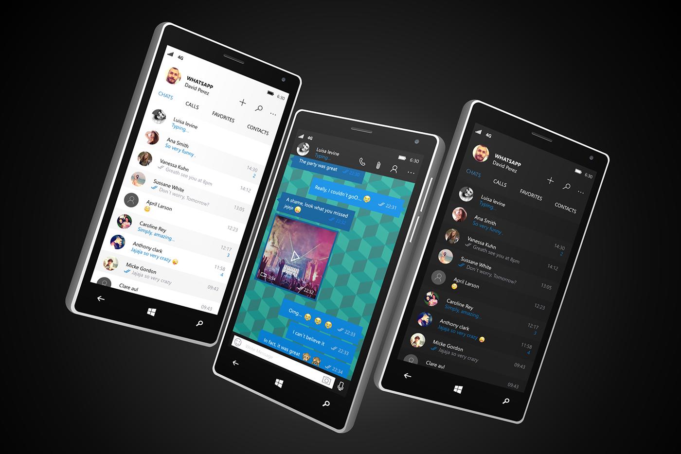 WhatsApp Universal app for Windows 10 on Behance