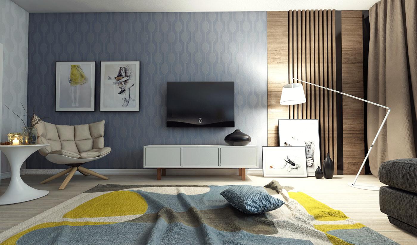 高品質的20個客廳主牆顏色欣賞
