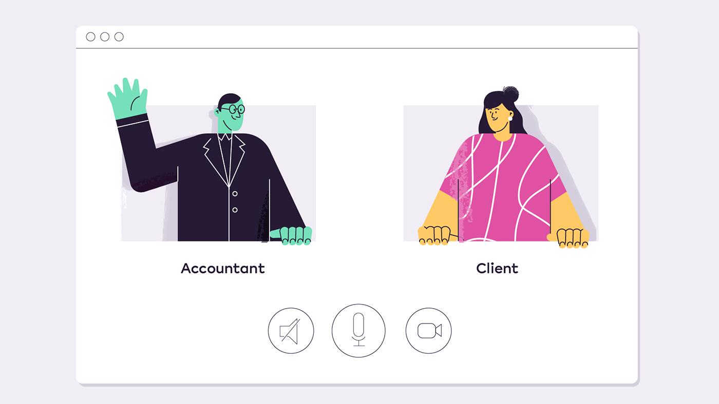 animation  Character design  ILLUSTRATION  SAAS social explainer video