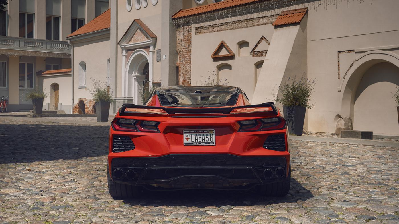art automotive   c8 car Corvette glenksas Photography  photoshop retouching  stingray