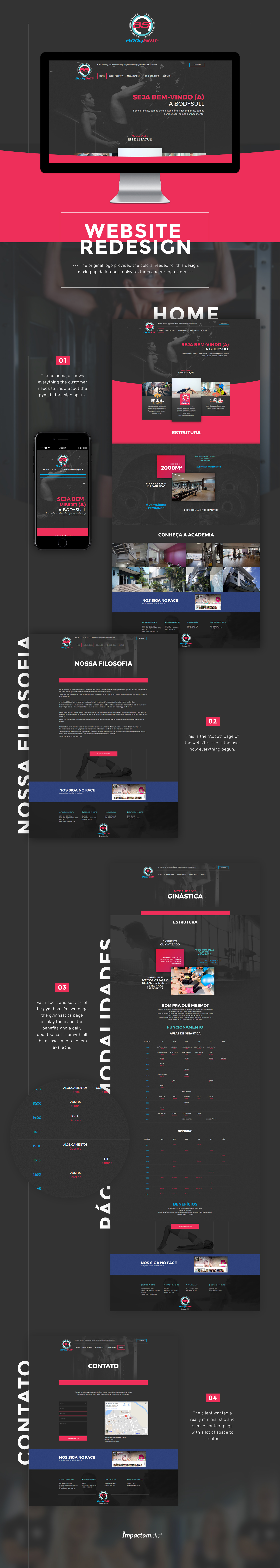 Webdesign magenta cyan blue dark Web web design dar strong colors Web Design  redesign