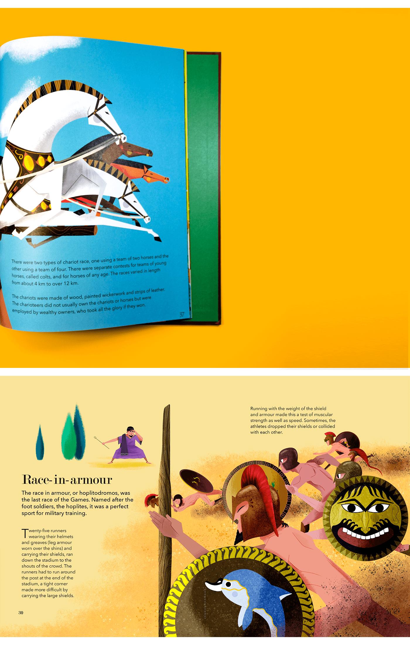book childrens illustration libro infnatil greek Grecia libro ILUSTRADO illustration studio