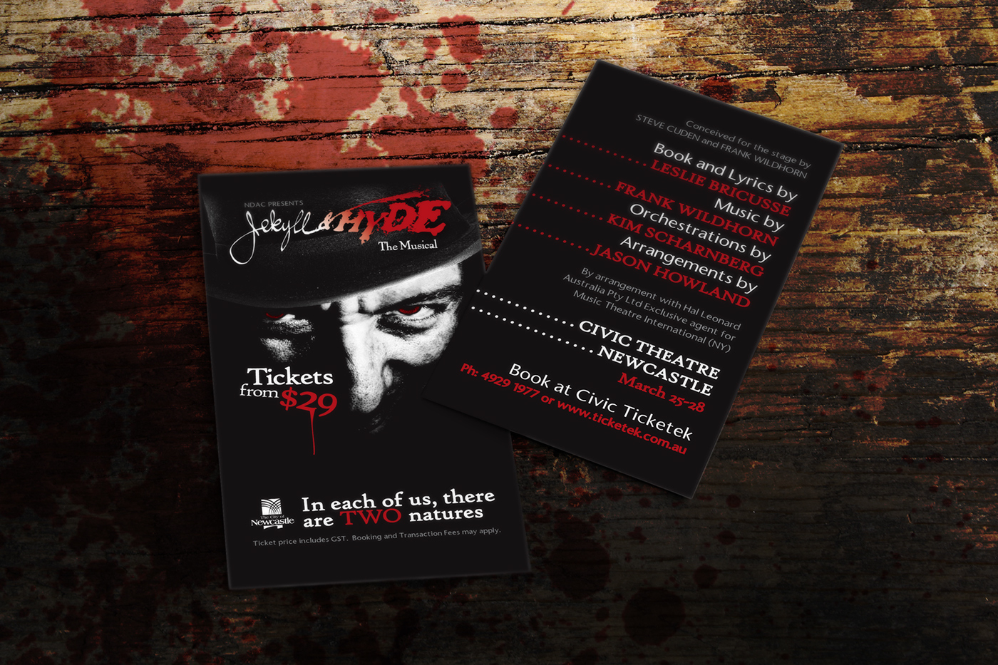 Jekyll & Hyde The Musical Business Cards for NDAC on Behance