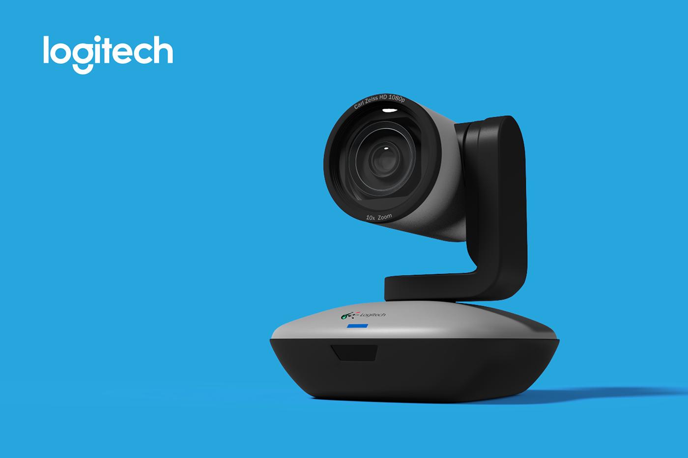 Logitech ptz webcam 3D Maya keyshot advertisement