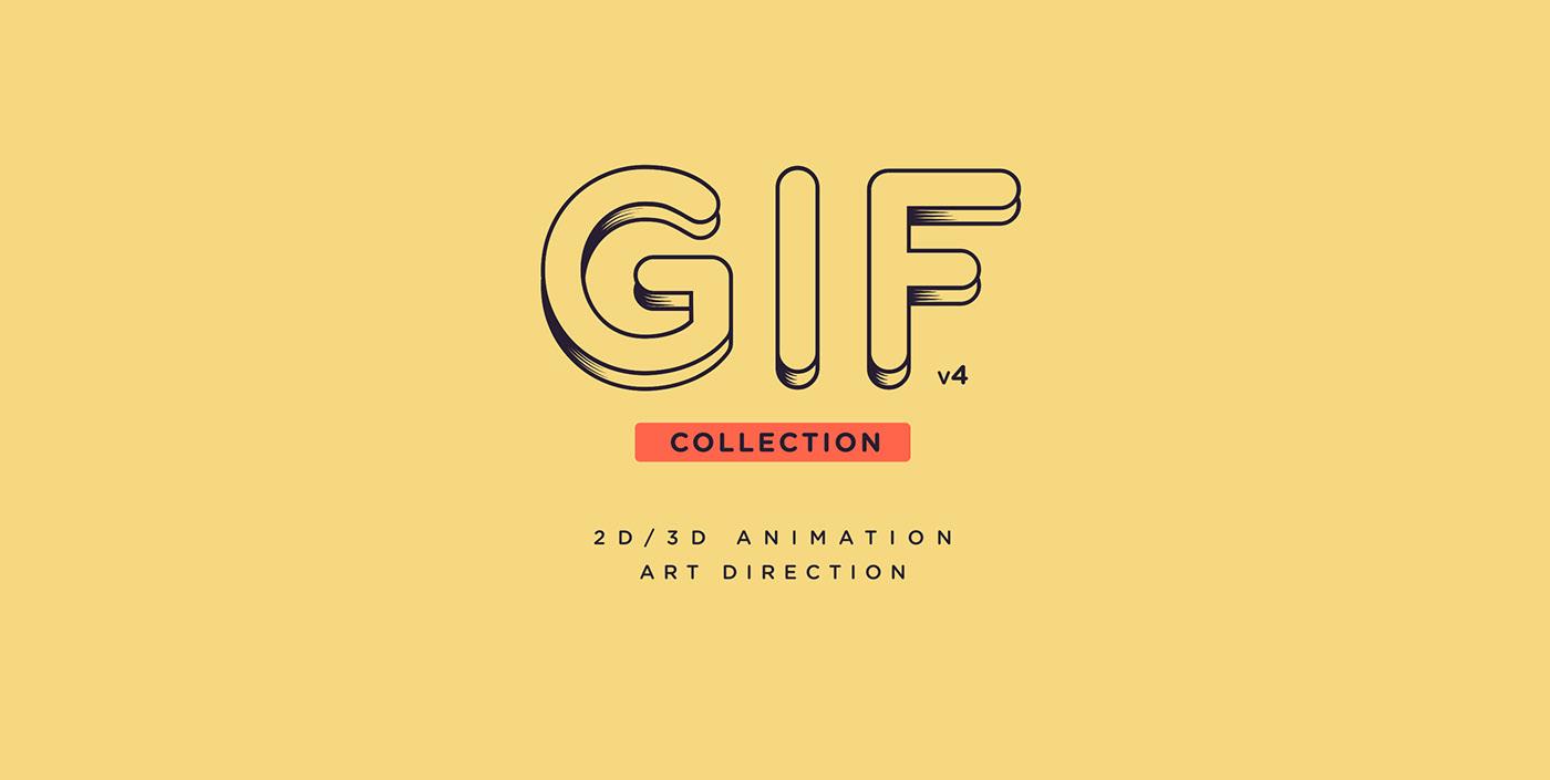 animation  2D Animation 3d animation Gif Collection shape animation c4d cinema 4d motion graphics  motion design explainer animation