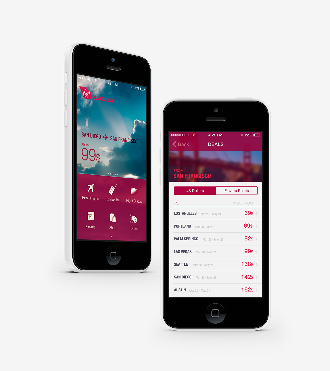 user interface design visual design Mobile User Interfaces User Experience Design iphone app Flight app