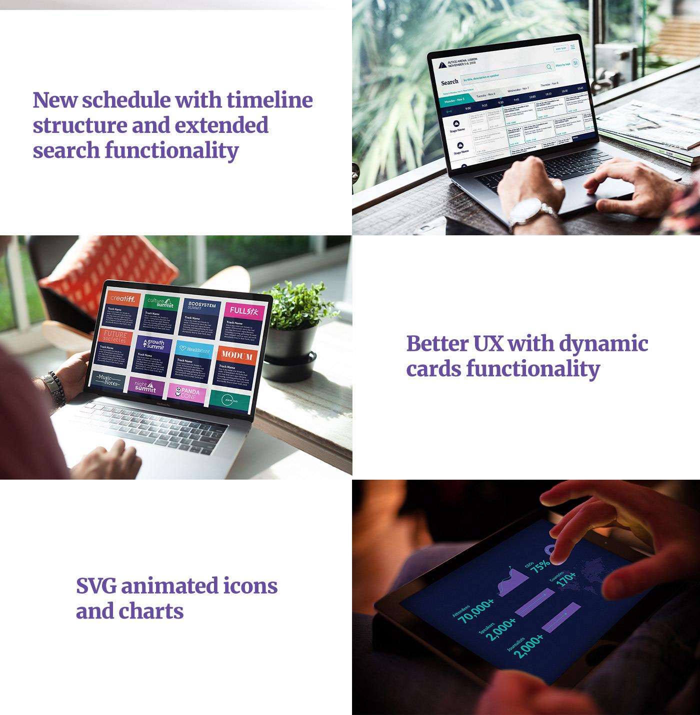 websummit,redesign,uiux,conferences,Startup,Webdesign,Website,modern,minimalistic,colorful