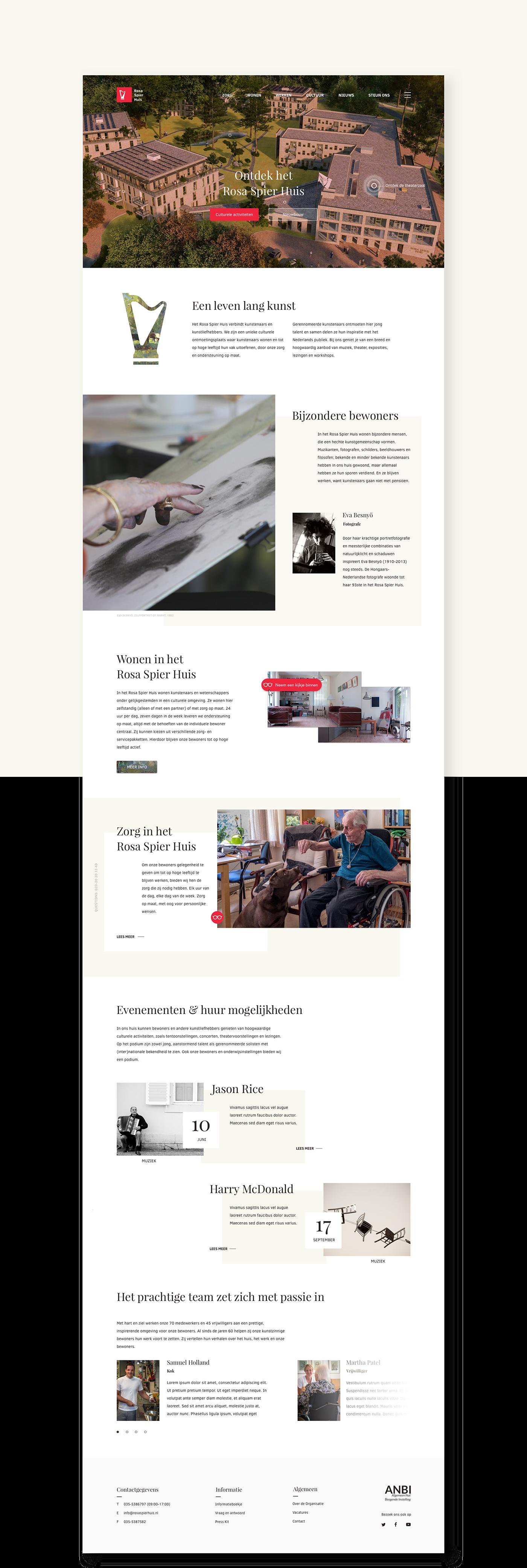Rosa Spier Huis Rosa Spier branding  graphic design  retirement home Web Design
