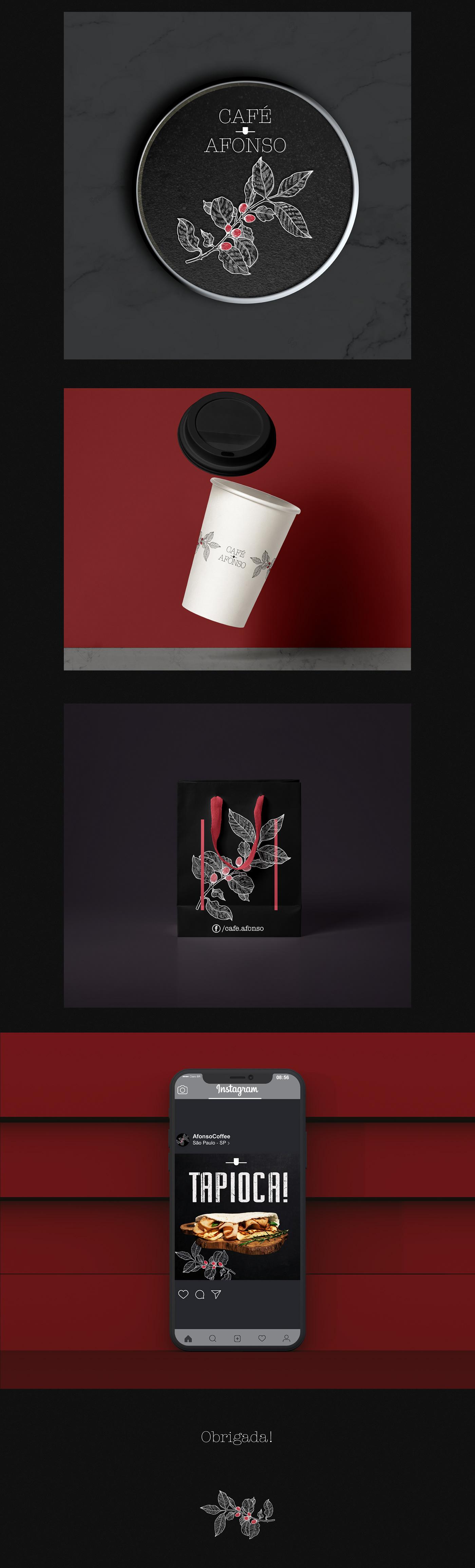 identidade visual visual identity coffee shop Photography  menu cardápio Fotografia social media mídias sociais cafe