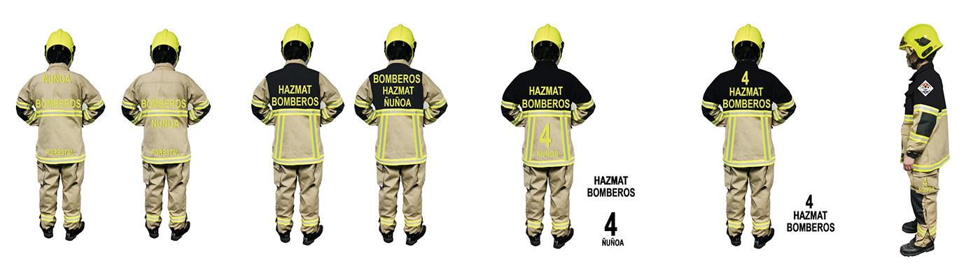 bomberos diseño de vestuario diseño gráfico emergencias estampados