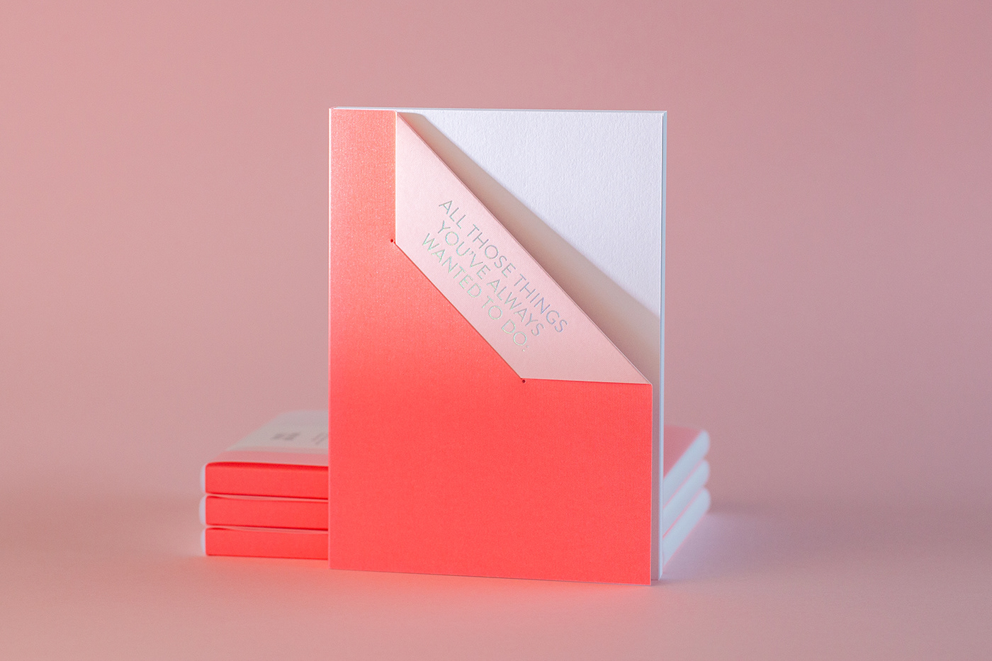 Corporate Identity gmund hotfoil less is more notebook Quotes