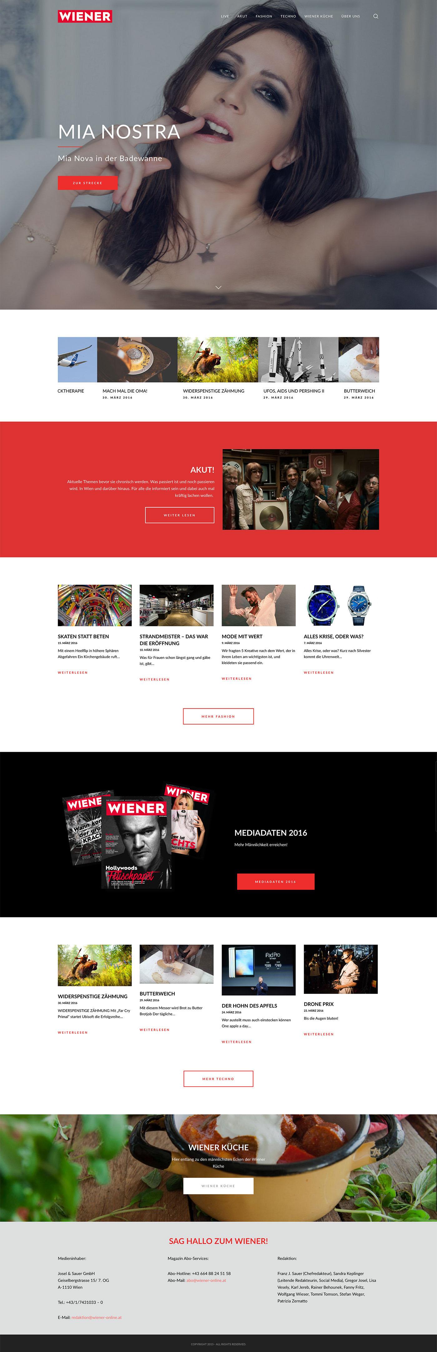 Digital Publishing online magazine lifestyle magazine vienna wiener