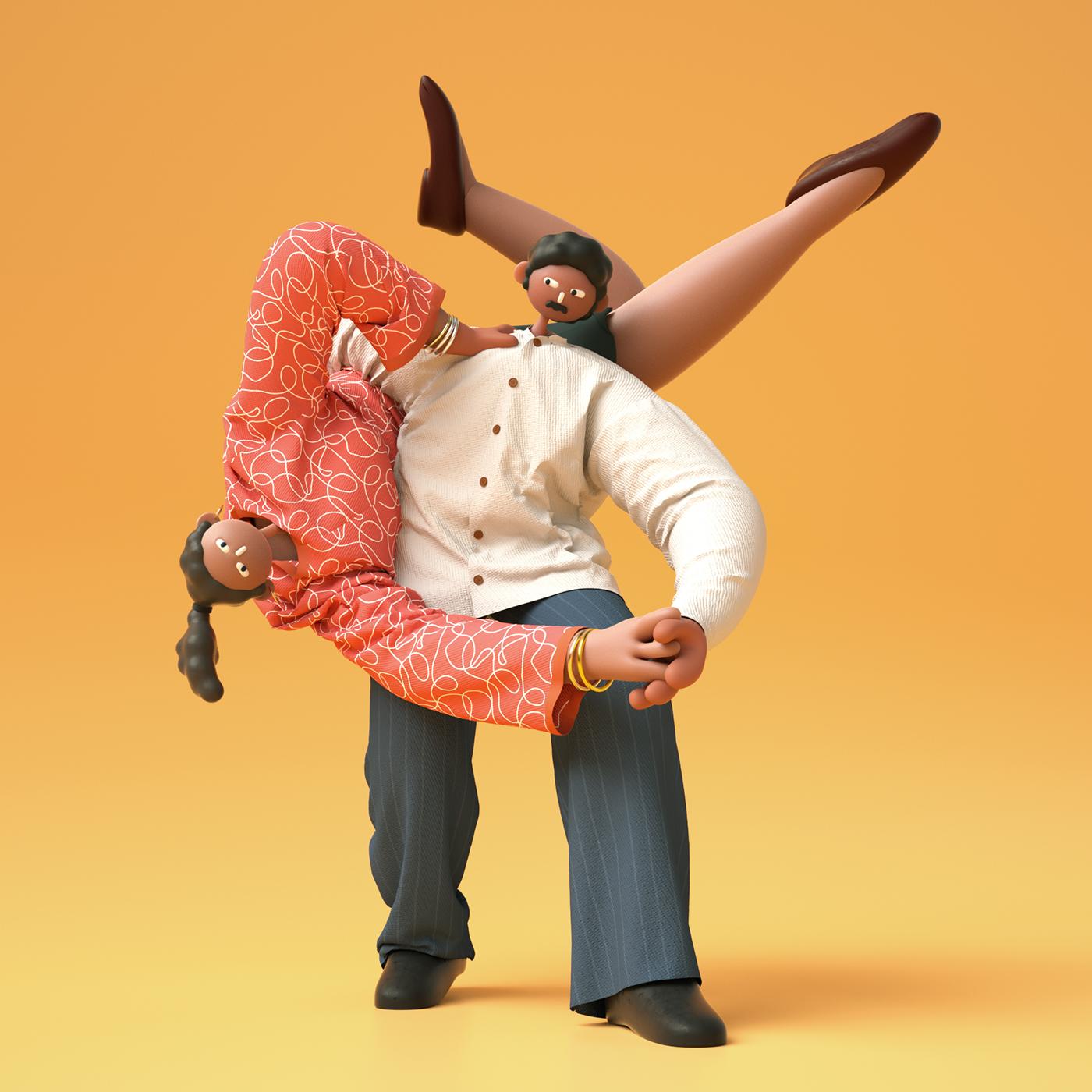 Character music DANCE   swing elvis Musical rhythm ILLUSTRATION  balance textile