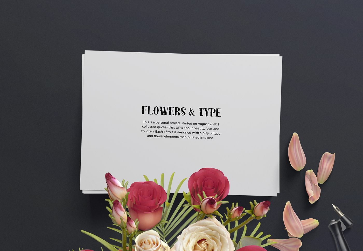 Flowers type on behance if you liked my personal project drop by some comments suggestions and improvements are very welcome follow me on izmirmasajfo