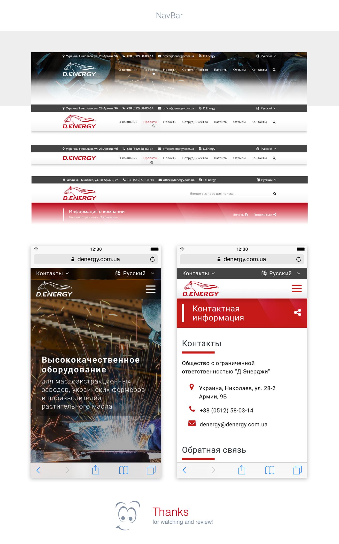 denergy wdmg web-design