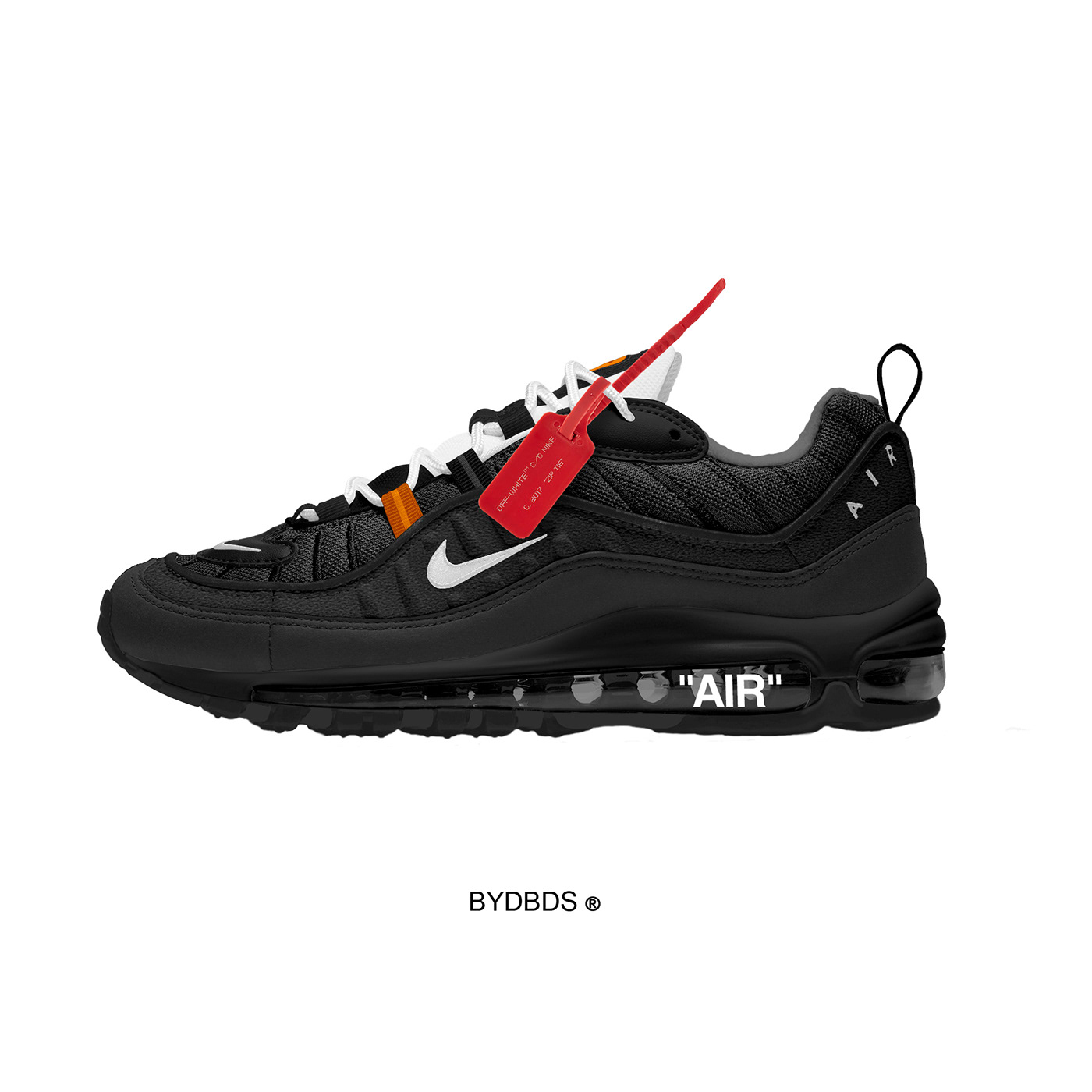 Nike Air Max 98 x Off-White ™ Vlone Concepts by DBDS on Behance