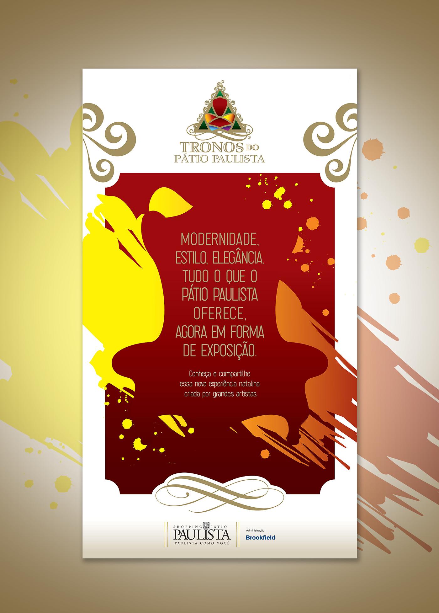 Event logo trono natal design marca branding  campanha marketing   mark