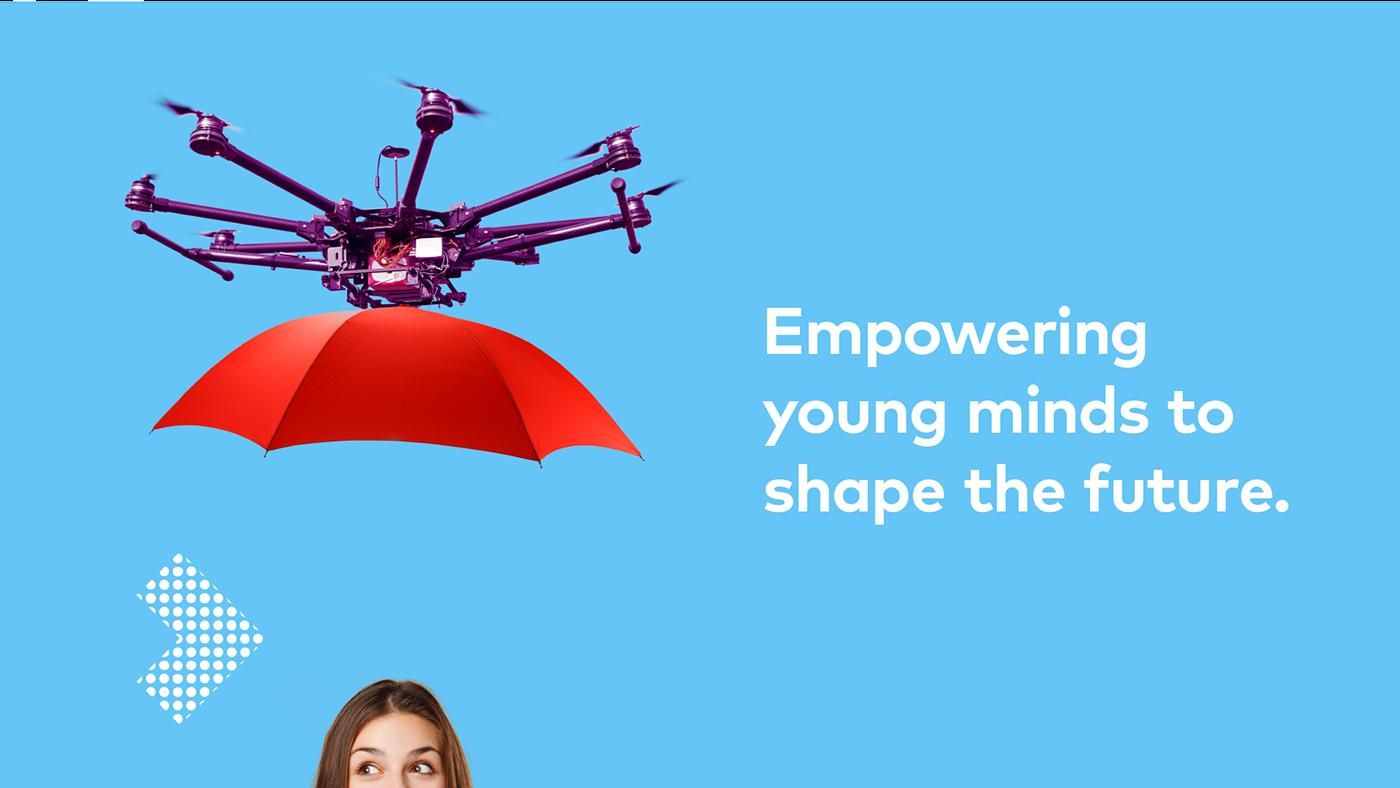 Education female High School design D.A.M branding  Colourful  youth Fun energy