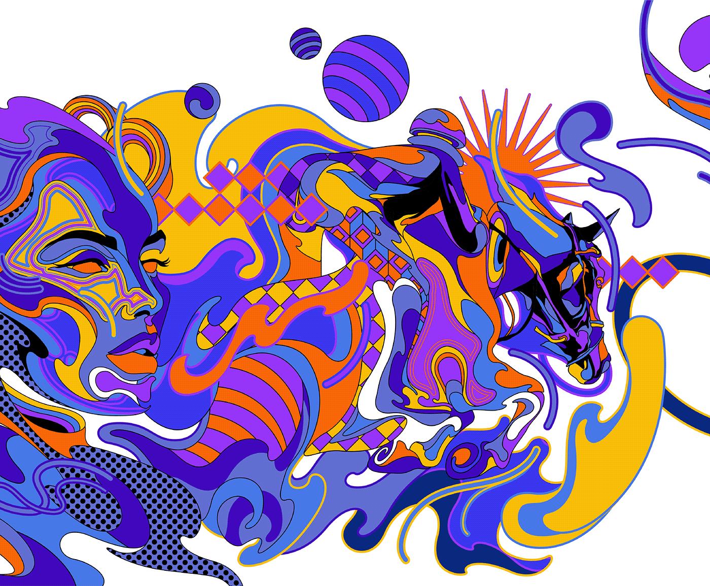 colors dubai Flats graphic design  ILLUSTRATION  inspiration philippines trends vectorart vectors