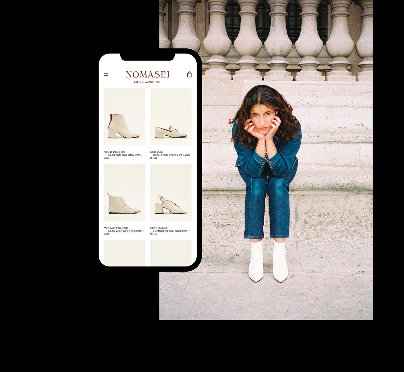 ui design UX design Web Design  identity Fashion  e-shop e-commerce