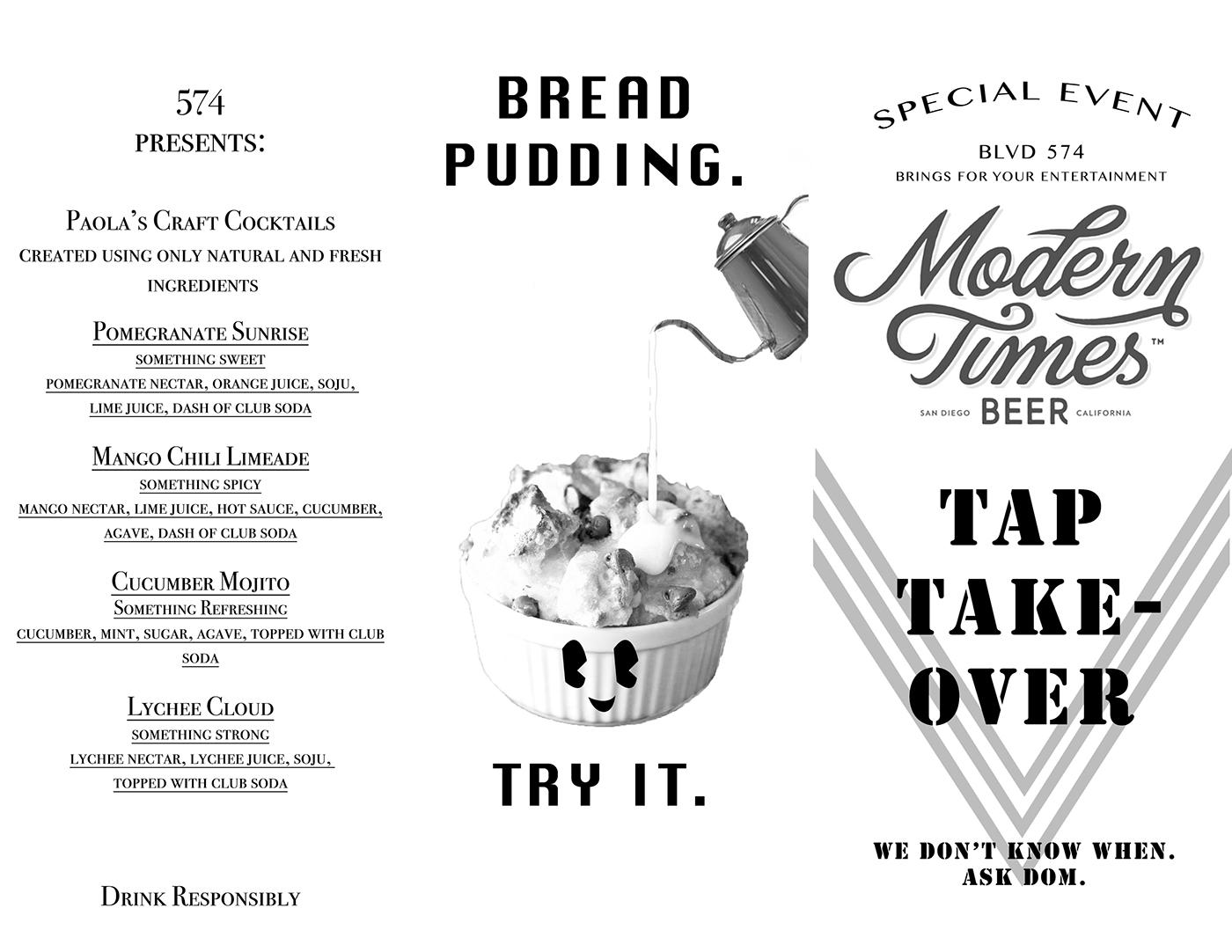 graphic design  restaurant menu freelance work black and white CREATIVE FIELDS