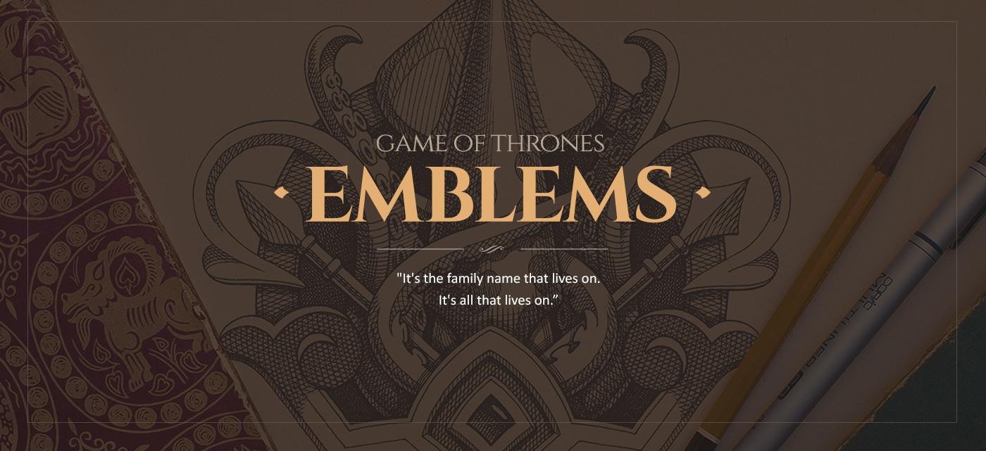 badge vintage dragon emblem engraving house Game of Thrones Stark lannister sketch wolf lion deer animal symbol