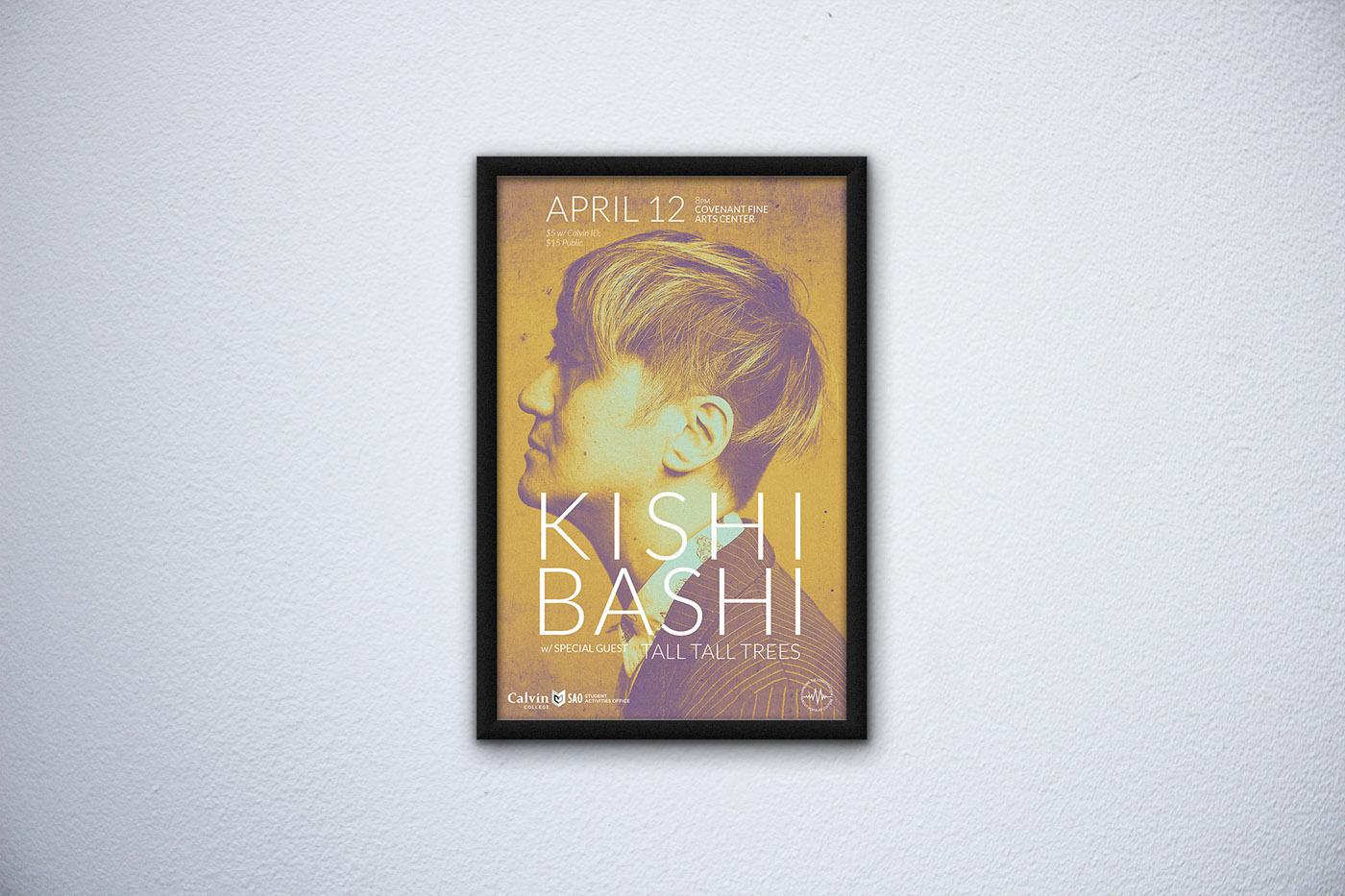 poster graphic design  concert music kishi bashi tegan & sara