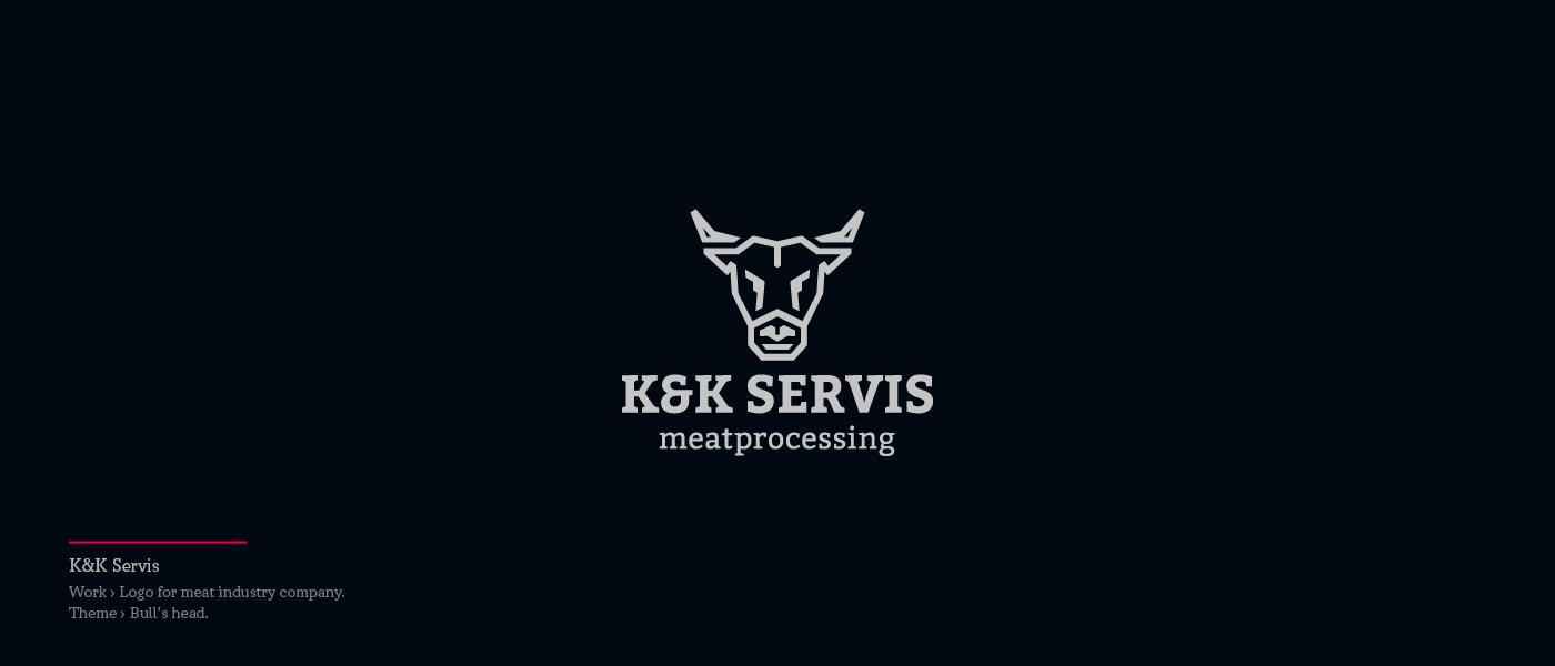 KK Servis - logo for meat industry company