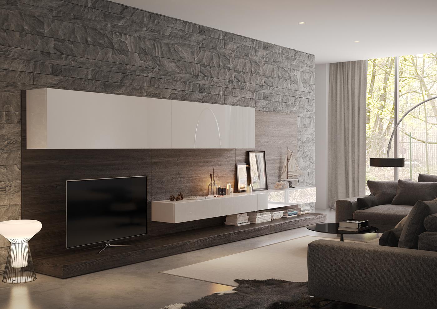 Poliform living room and bedroom on behance for Peinture pvc exterieur