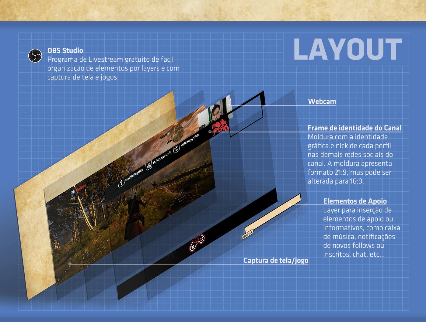 brand Layout Interface motion gameplay livestream Games video vfx