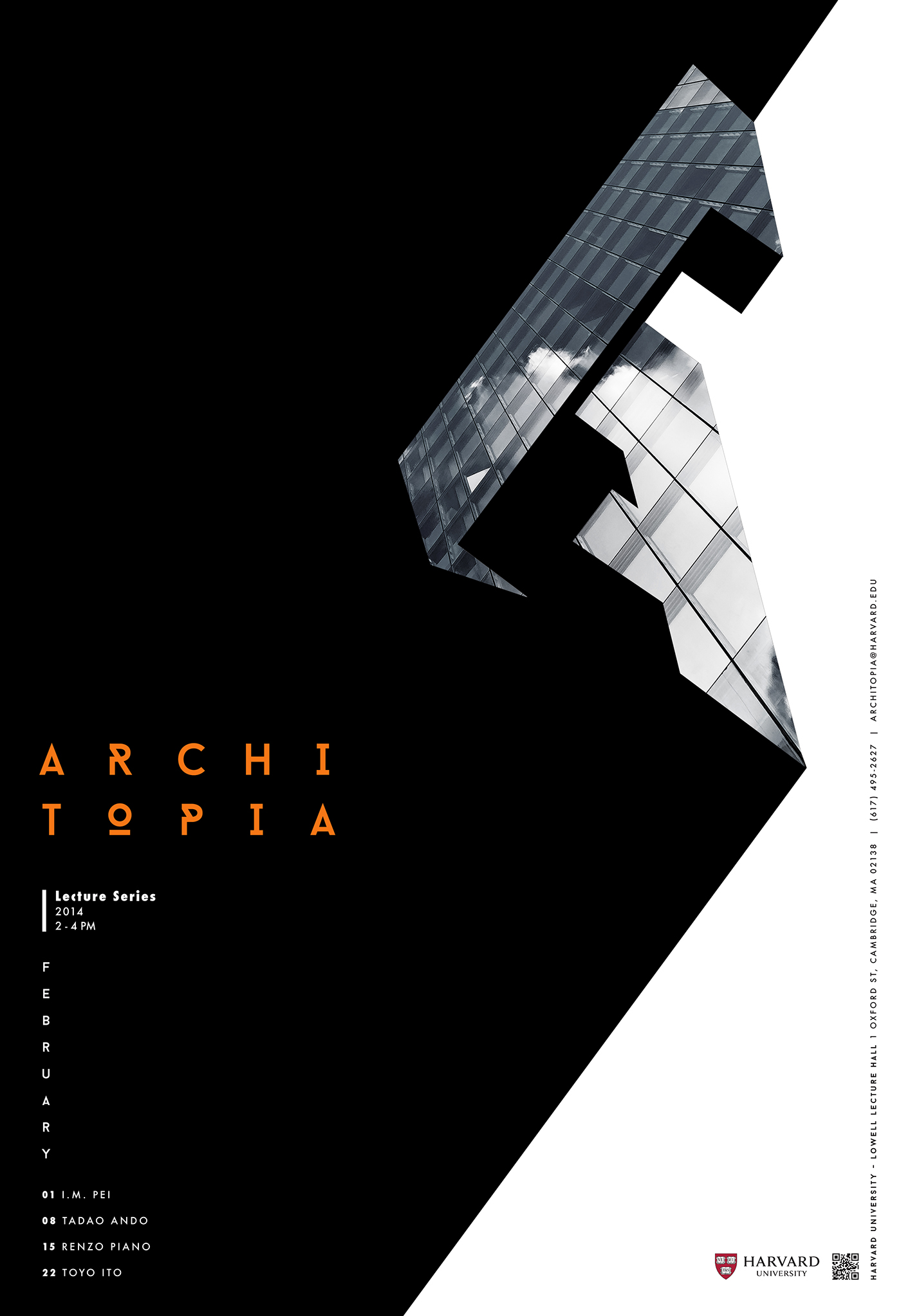 ARCHITOPIA Lecture Series Poster Brochure Design