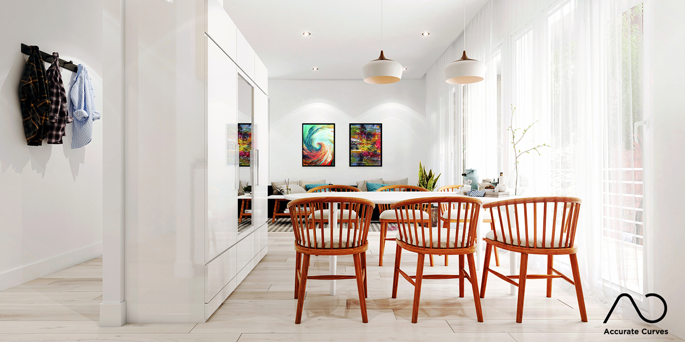 Interior design (Scandinavian style) @Finland on Behance
