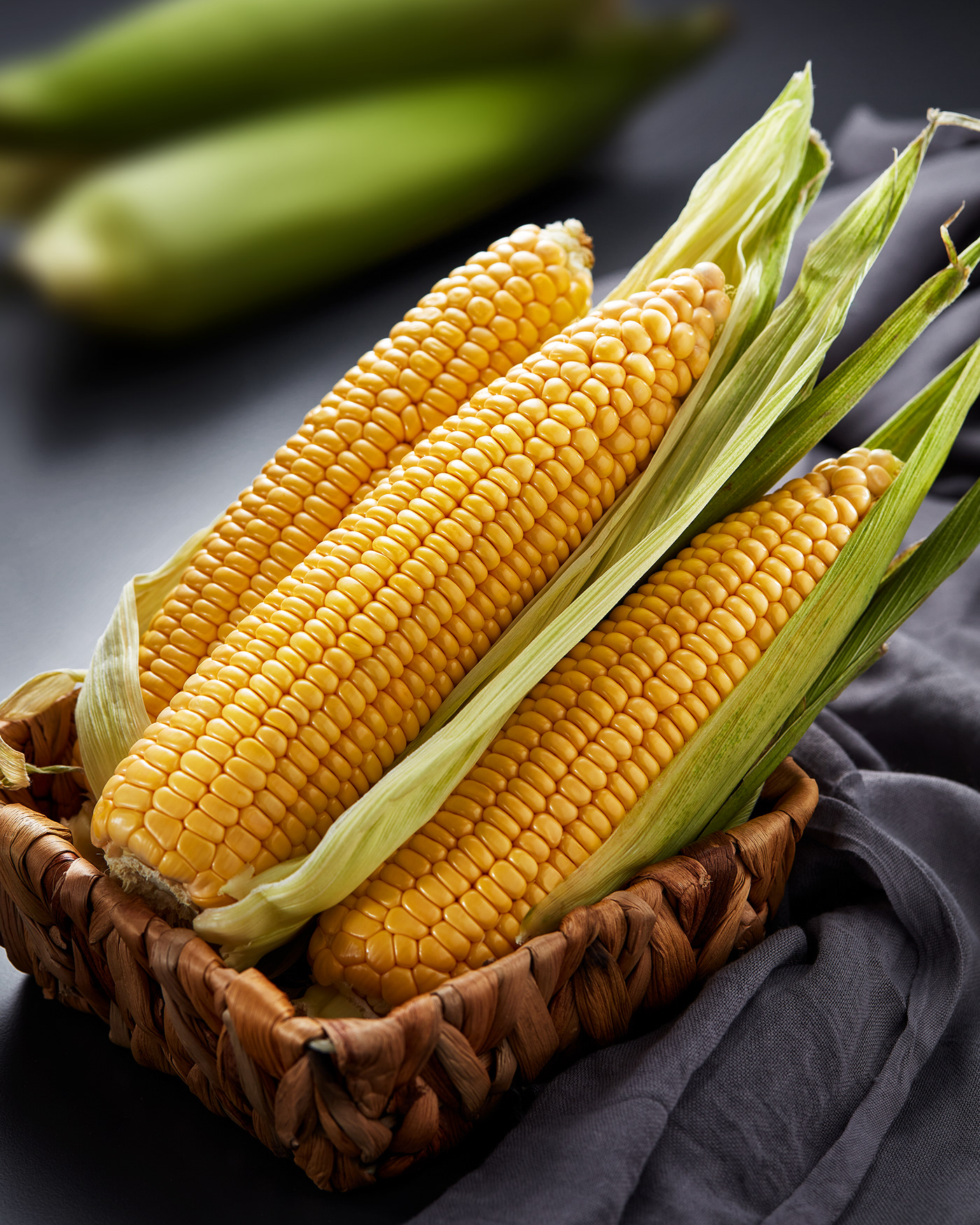 corn food photography kitchen yellow