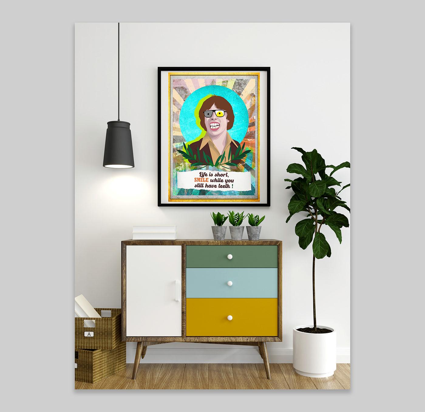 art caricature   collage collage vintage Meme portrait Poster Design satire ILLUSTRATION  print
