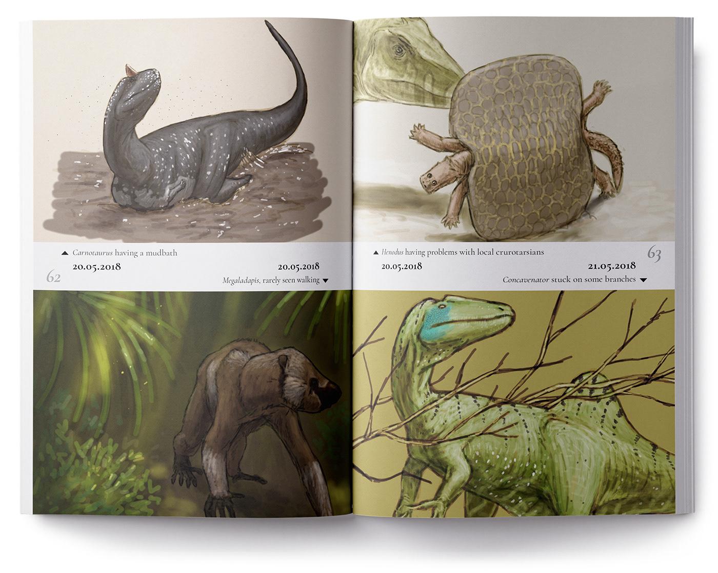 Dinosaur reptile animal SciArt scientific illustration paleontology Fossil Nature Prehistory science