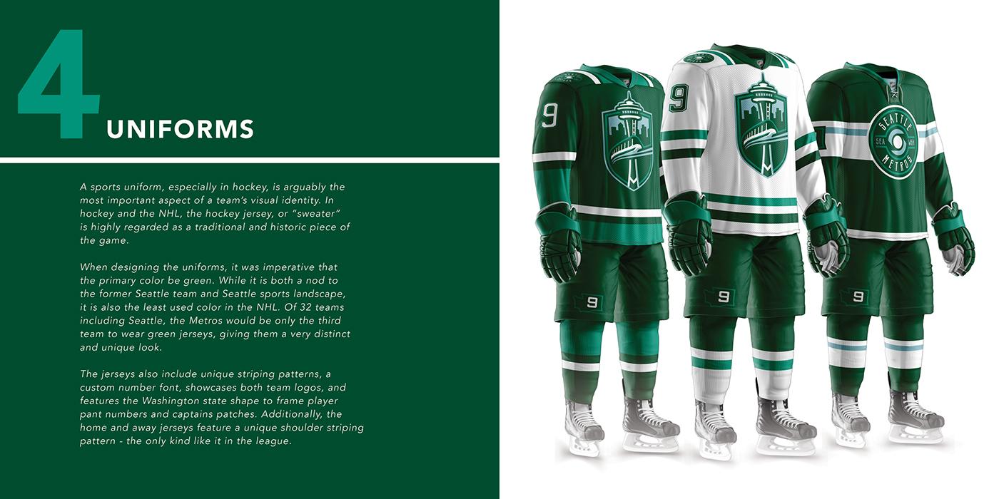 Seattle Metros - NHL Franchise Branding and Design on Behance