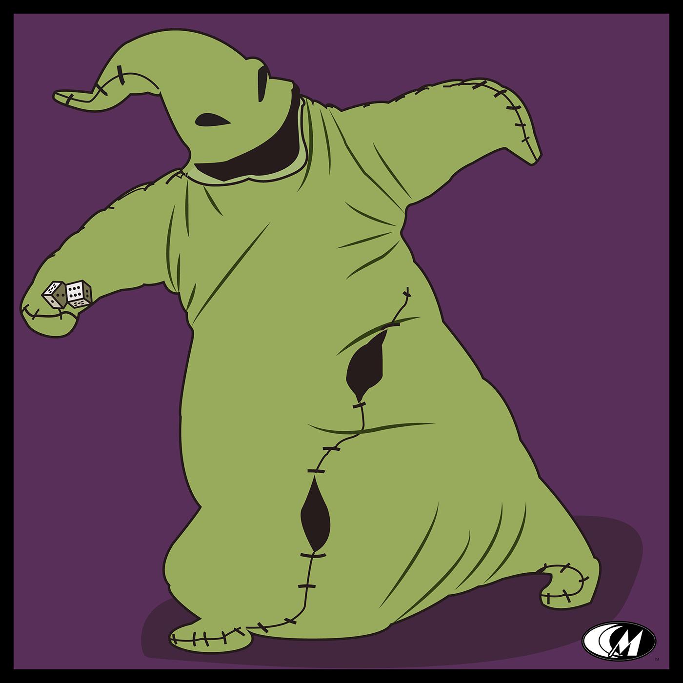 ILLUSTRATION  Digital Art  cartoon nightmare before christmas Halloween Boggie man Classic horror Scary stitches