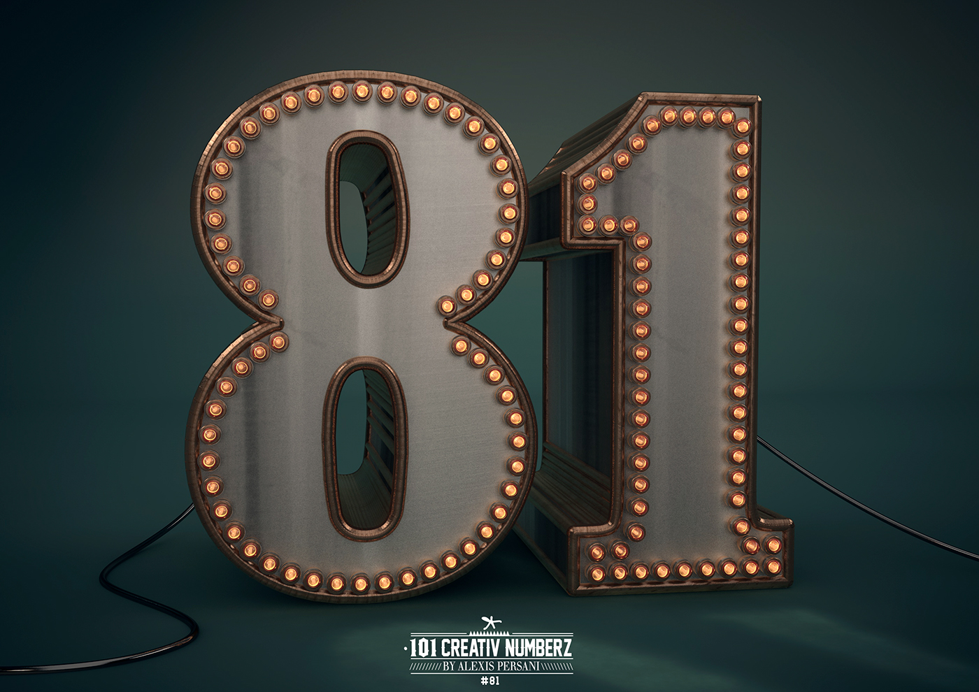 Outstanding 101 Creative Numbers Typography by Alexis Persani 75
