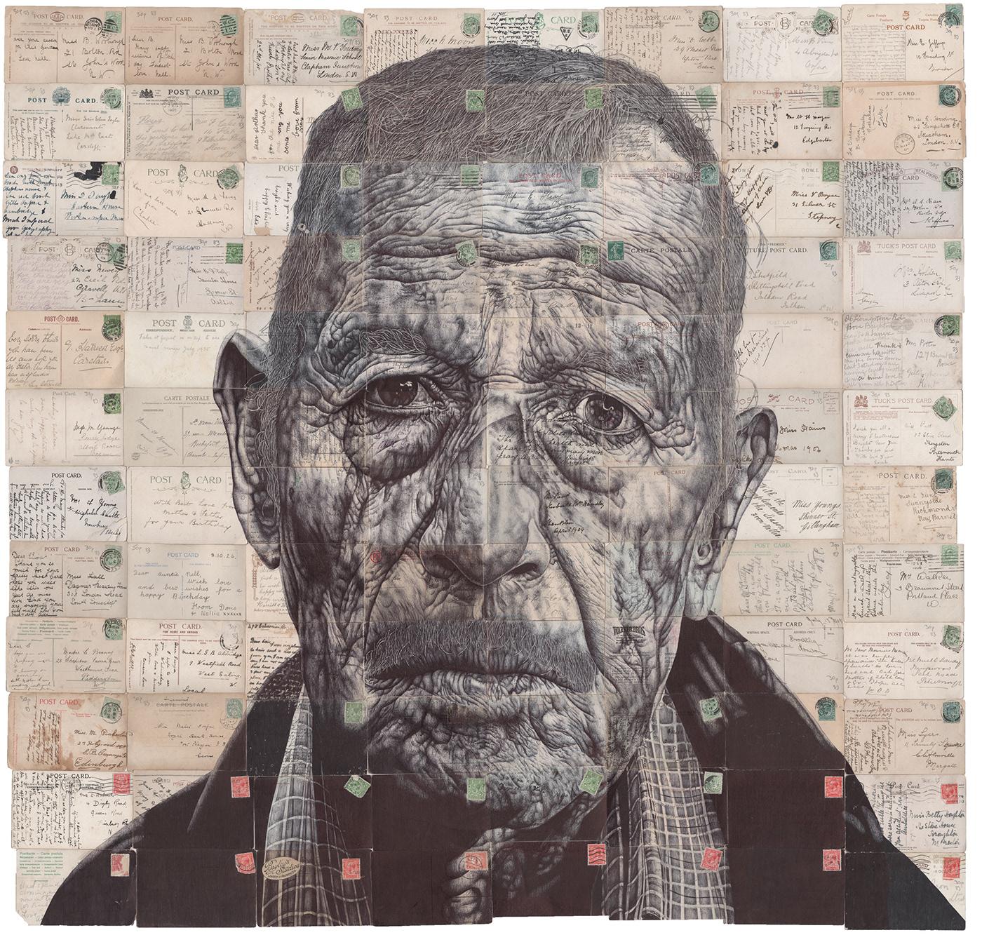 Image may contain: drawing, art and human face
