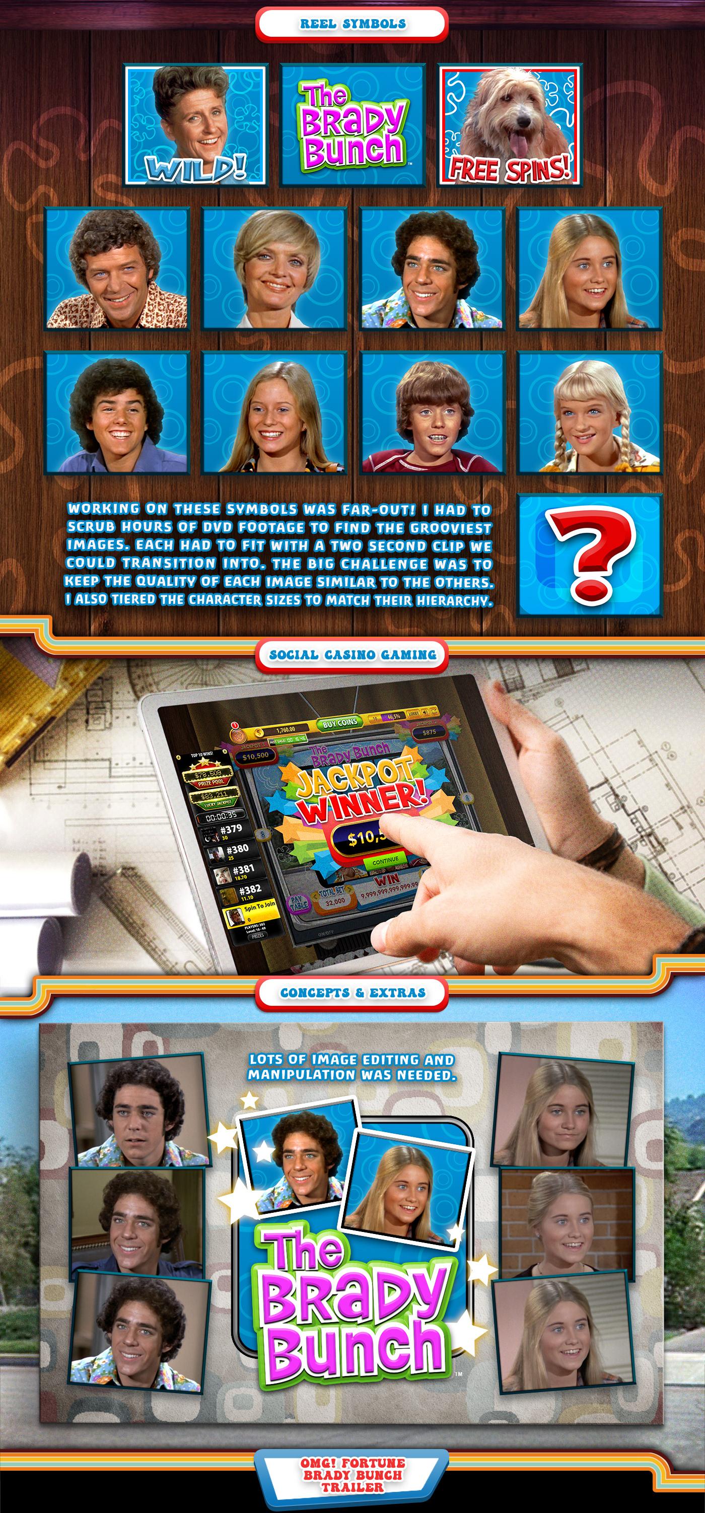 brady bunch casino frank rapoza game Game Art ILLUSTRATION  slot slot game social television