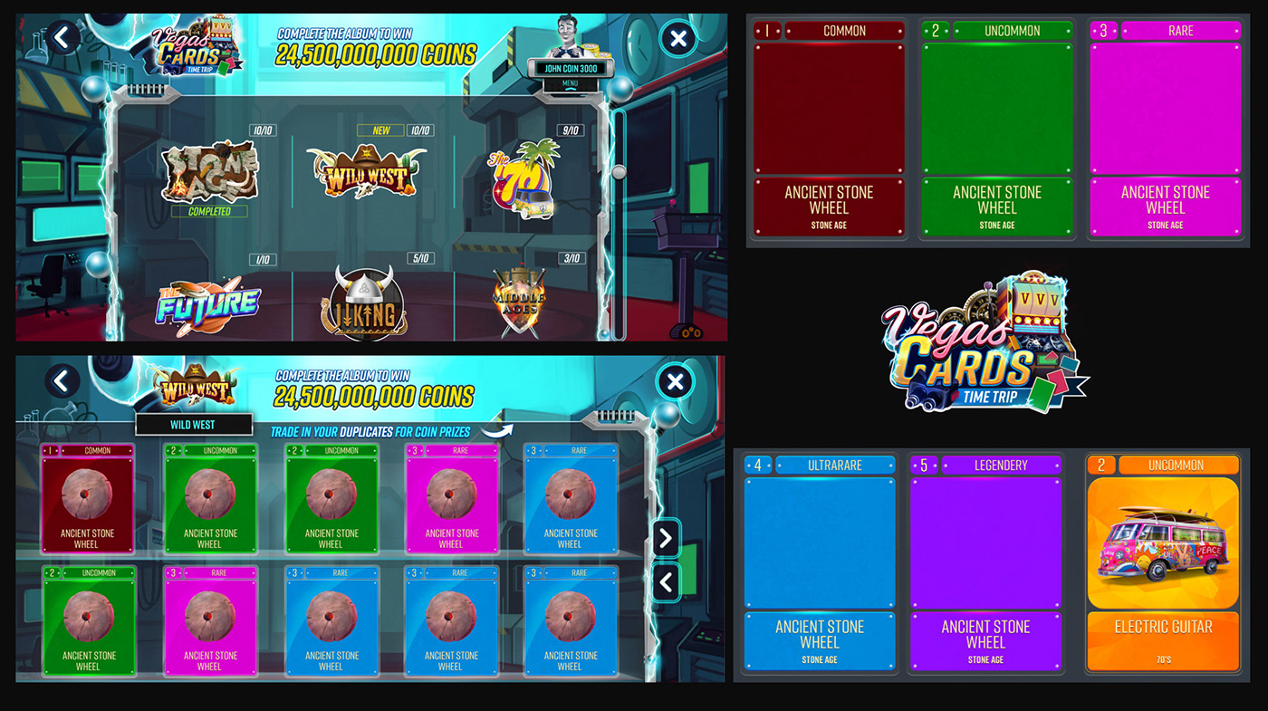 art direction  Collection Gaming time Time Machine UI ux Vegas