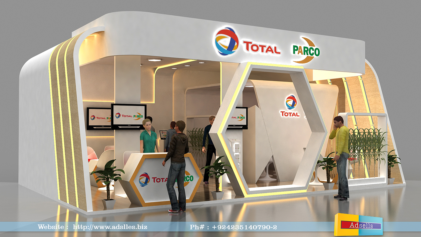 Exhibition Stall On Behance : Total parco exhibition on behance