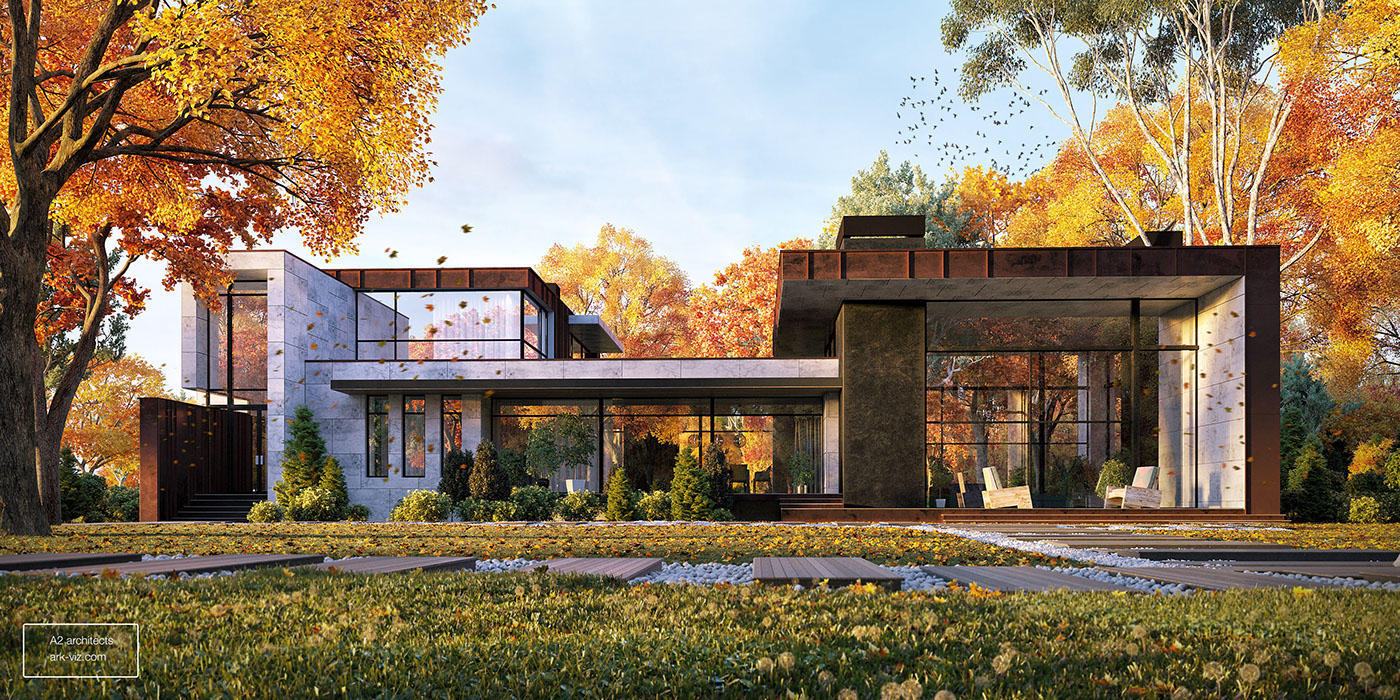 architecture visualization architectural visualization Render modern home design 3d design 3D Visualization archilovers