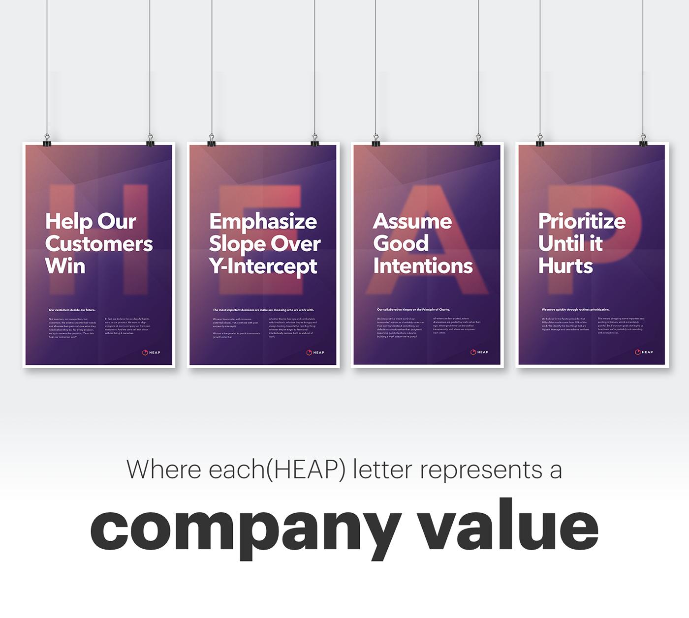poster posters typography   tipografia impresso impressos print purple orange heap