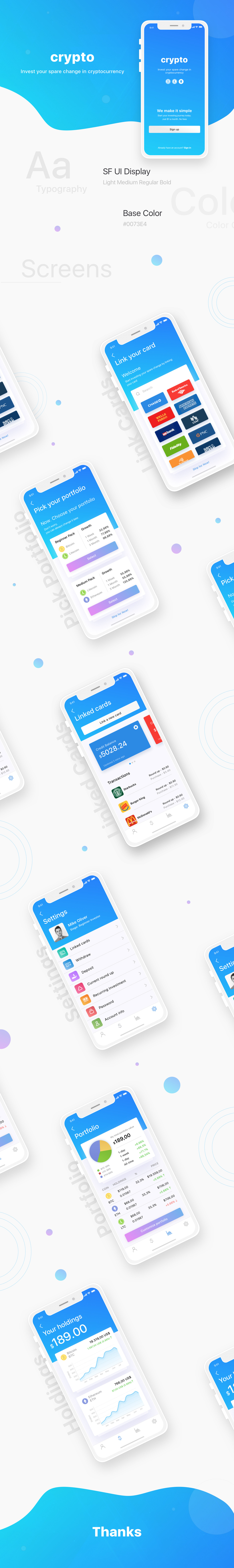 Mobile app iOS App crypto currency UI ux user interface design User Experiance design iphone app