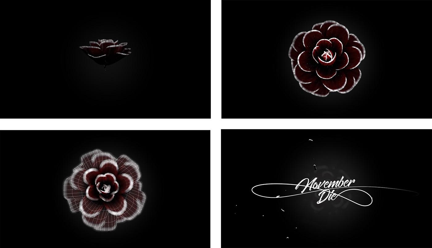 flower 3d,3d blooming,cinema4d flower,november 3d