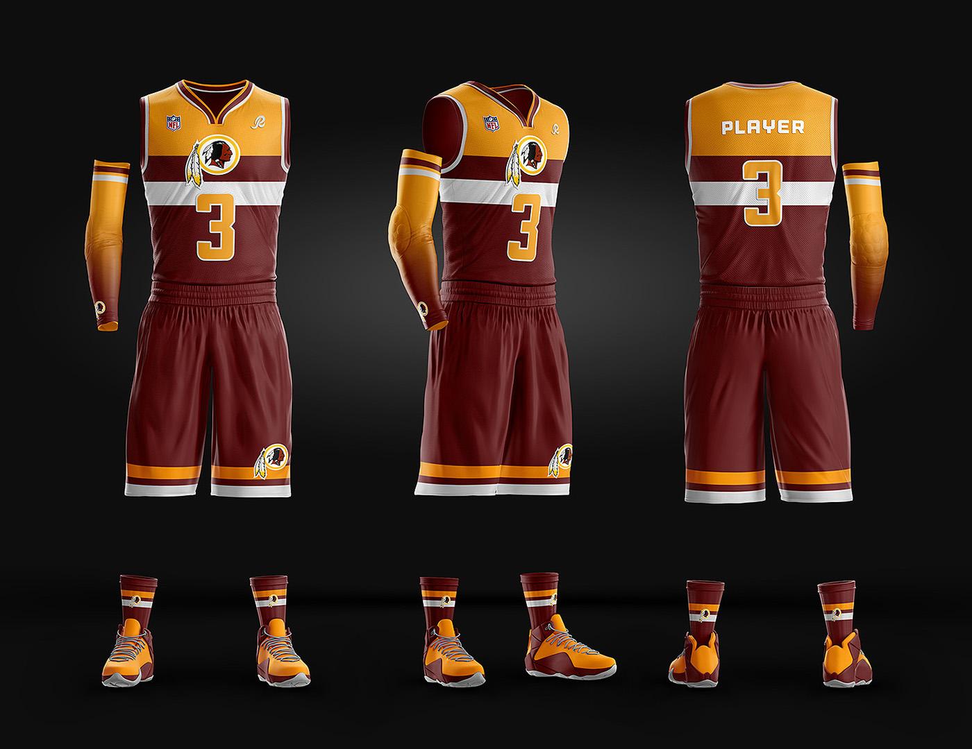 aa62c4e0c08937 Basketball Uniform Jersey PSD template on Behance