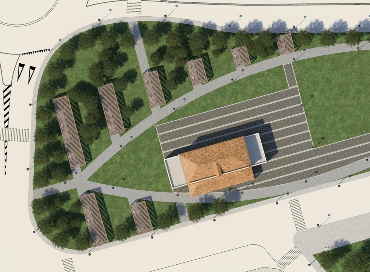 exterior Landscape design 3D Render vray 3ds max architecture visualization