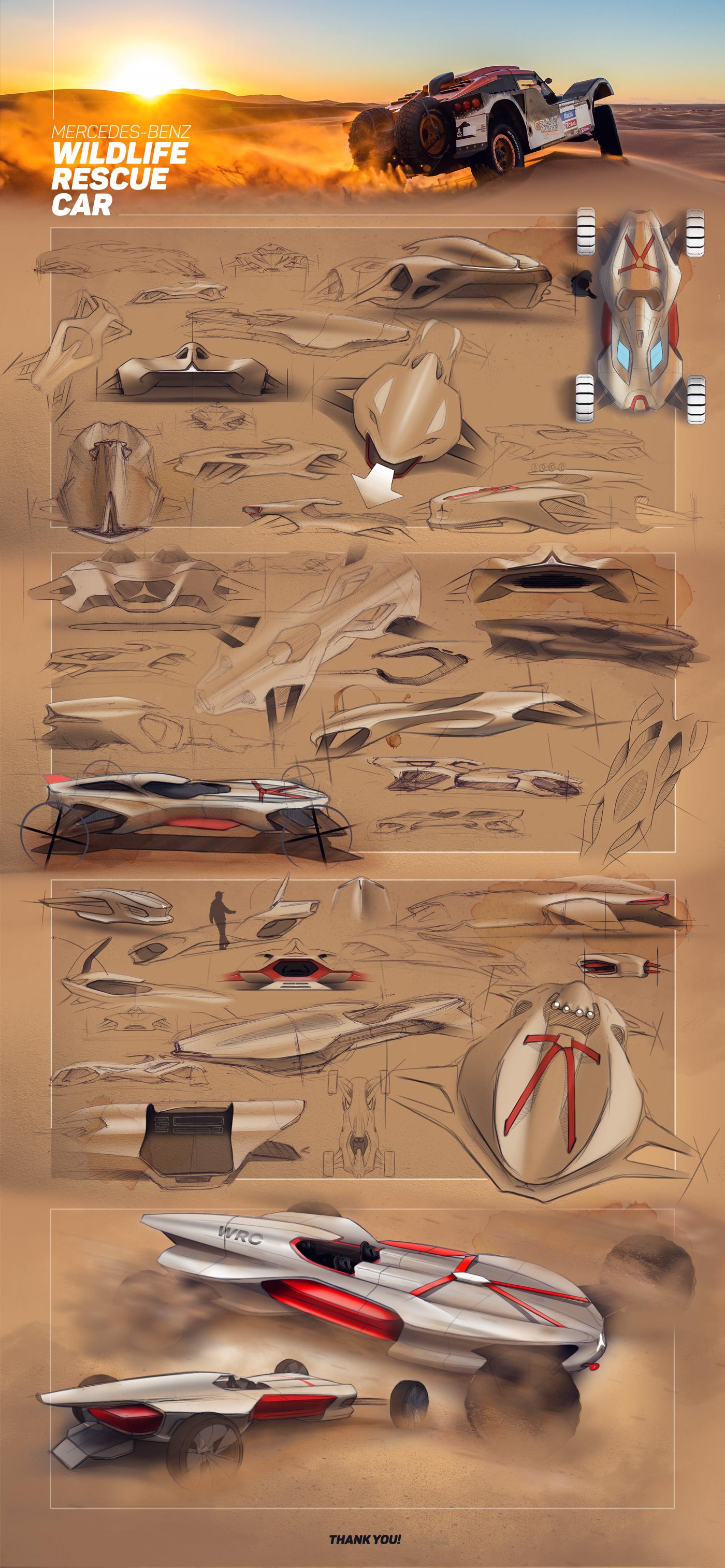 Rescue Car Transportation Design mercedes wildlife desert emergency