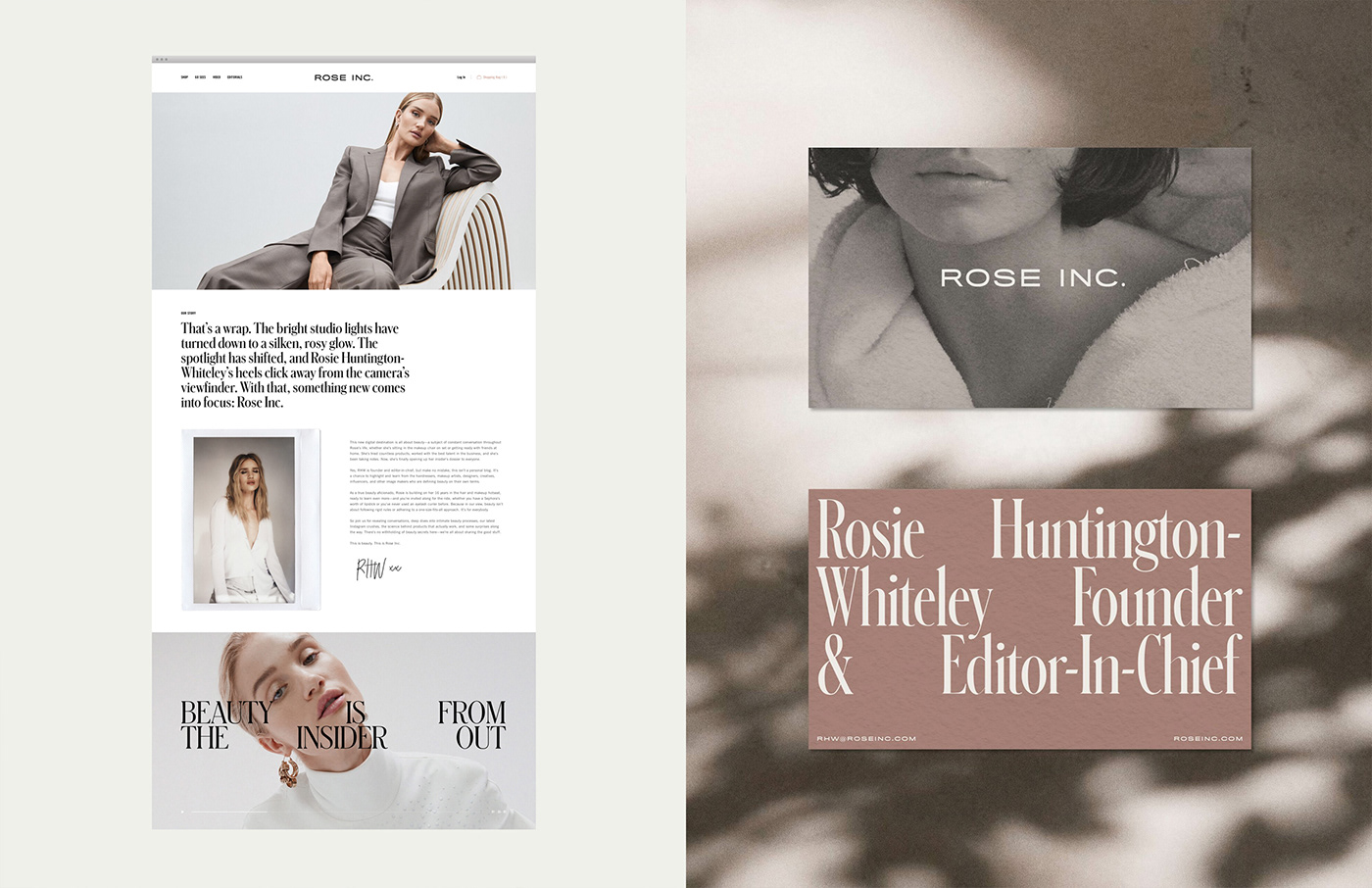 beauty brand guidelines Business Cards identity logo skincare typography   Website Brand System serif